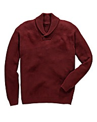 Jacamo Shawl Neck Jumper