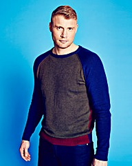 Flintoff By Jacamo Crew Neck Jumper L