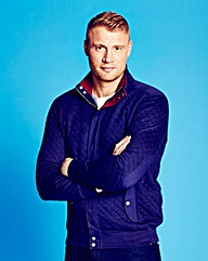 Flintoff By Jacamo Quilted Tracktop Long