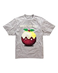 Jacamo Xmas Pudding Tshirt Long