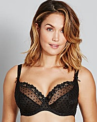Curvy Kate Princess Black Balcony Bra