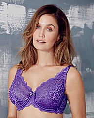 Playtex Flower Lace Wired Purple Bra