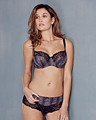 Panache Jasmine Black Animal Balcony Bra