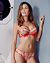 Panache Clara Full Cup Red/Gold Bra