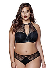 Ashley Graham Microlace Padded Bra
