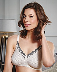 Royce Ava Cream/Black Spot Support Bra