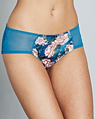 Gossard Japanese Rose Teal Print Shorts