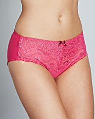 Playtex Flower Lace Bright Pink Briefs