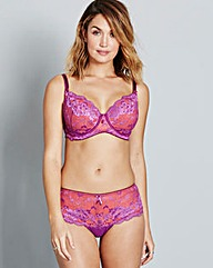 Pour Moi Amour Full Cup Purp/Orange Bra