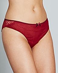 CurvyKate Ellace Crimson BrazilianBriefs