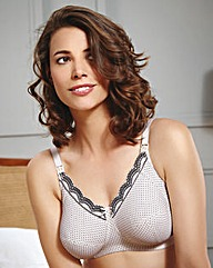 Royce Ava Cream/Black Spot Nursing Bra
