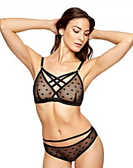 Ann Summers Lucia Non Wired Black Bra