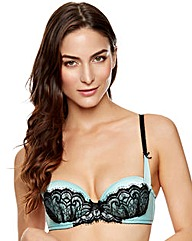 Ann Summers Darla Mint/Black Balcony Bra