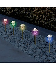 Set of 10 Colour Changing Stakelights
