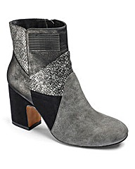 Sole Diva Patchwork Boots EEE Fit