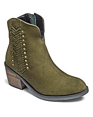 Joe Browns Suede Ankle Boots EEE Fit