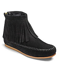 Sole Diva Fringed Ankle Boots E Fit