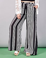 Simply Be Stripe Sheer Trousers