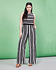 Simply Be Stripe Jumpsuit