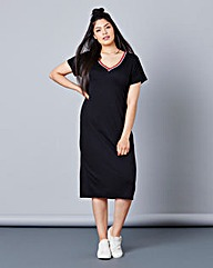 Simply Be Rib Trim Dress