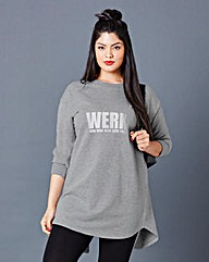 Simply Be Longline Sweat Top