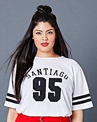 Simply Be Slogan Boyfriend T-shirt