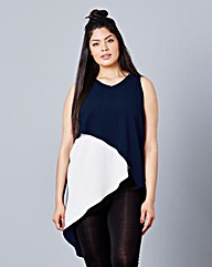 Simply Be Colour Block Wrap Tunic