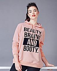 Simply Be Slogan Hoodie