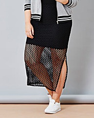 Simply Be Fishnet Skirt