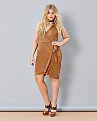 Simply Be Suedette Wrap Dress