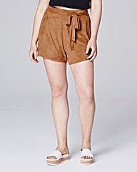 Simply Be Suedette Tie Shorts