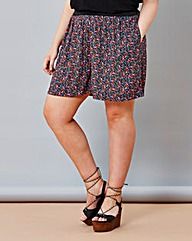 Simply Be Ditsy Print Flippy Shorts