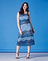 Simply Be Stripe Lace Slip Dress