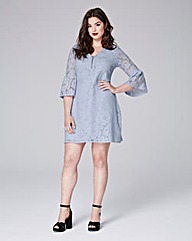 Simply Be Zip Lace A-Line Dress