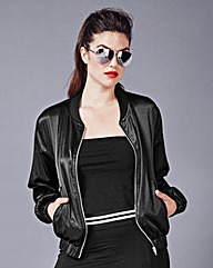 Simply Be Satin Bomber Jacket