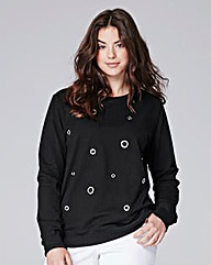 Simply Be Eyelet Sweatshirt Jumper