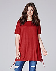 Simply Be Lace Up Side Jersey Top