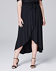 Simply Be Wrap Jersey Skirt