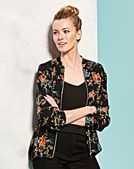 Simply Be Floral Print Bomber Jacket