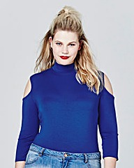 Simply Be Cobalt Cold Shoulder Body