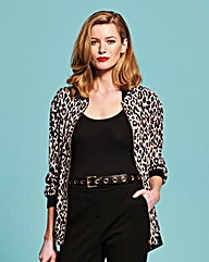 Simply Be Leopard Print Bomber Jacket