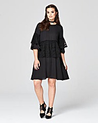 Simply Be Lace Ruffle Dress