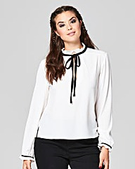 Simply Be Tie Neck Blouse