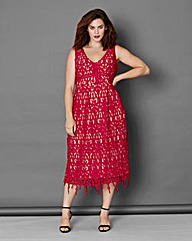 Simply Be Lace Fit and Flare Dress