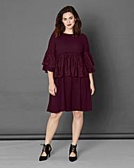 Simply Be Lace Ruffle Dress