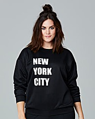 Simply Be New York City Slogan Jumper