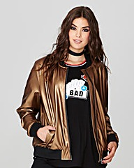 Simply Be Metallic Bomber Jacket