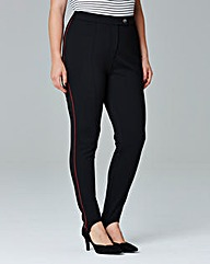 Simply Be Piped Stir-Up Trousers
