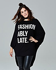 Simply Be Oversize Slogan Top