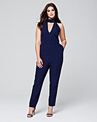 Lavish Alice Key Hole High Neck Jumpsuit